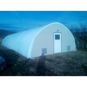 Solar tunel pentru ciuperci Pleurotus