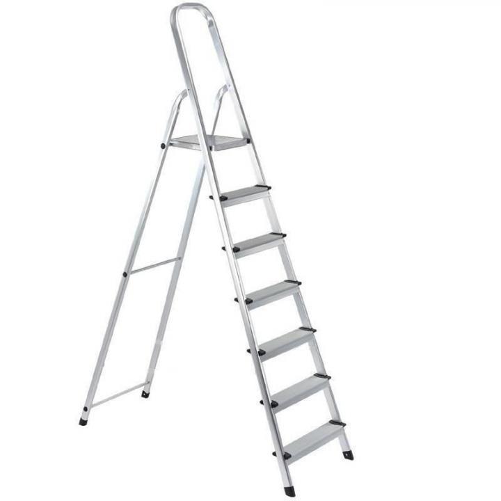 Scara aluminiu 7 trepte, Strend Pro ALW7, 2.2 m, 120 kg