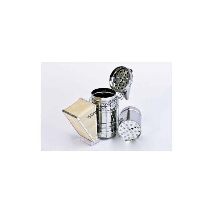 Afumator inox cu cilindru interior si protectie sarma