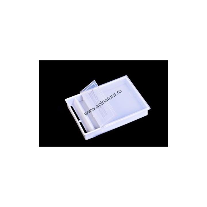 Hranitor dreptunghiular de podisor, transparent, 2 litri