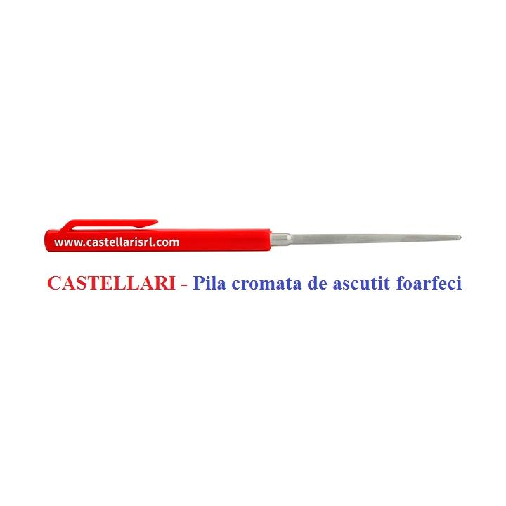 Pila cromata de ascutit foarfeci profesionala Castellari