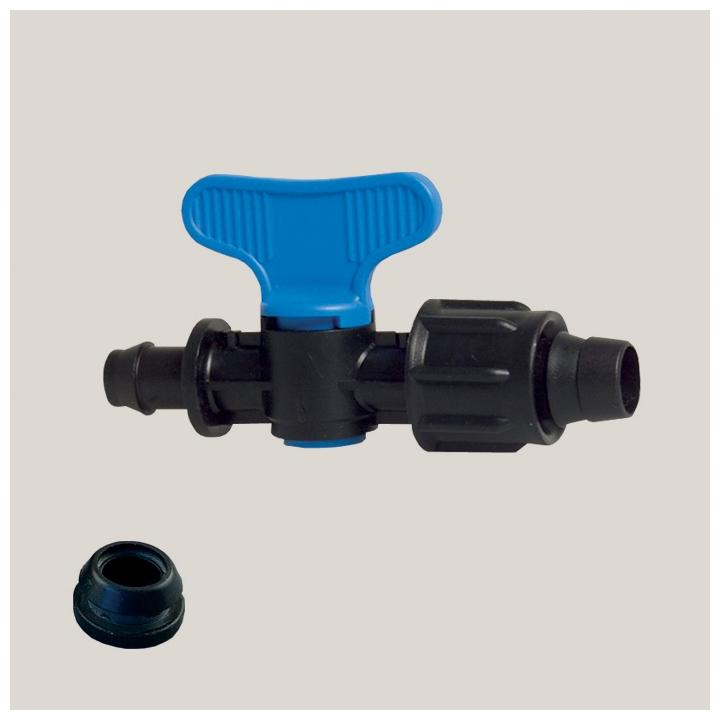 Robinet simplu pentru banda de picurare 17 mm