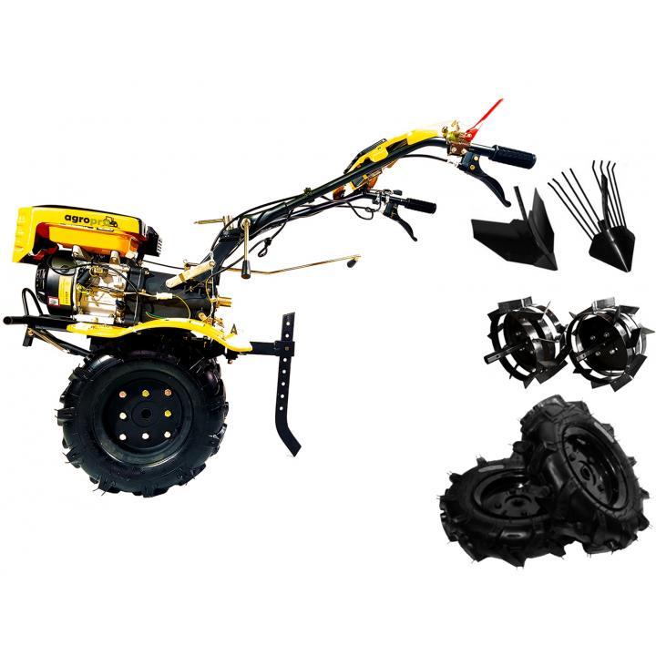 Motocultor Agropro HS 1000 7cp + freze + roti cauciuc 400x8