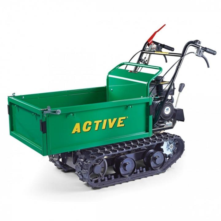 Transportor senilat manual cu platforma extensibila