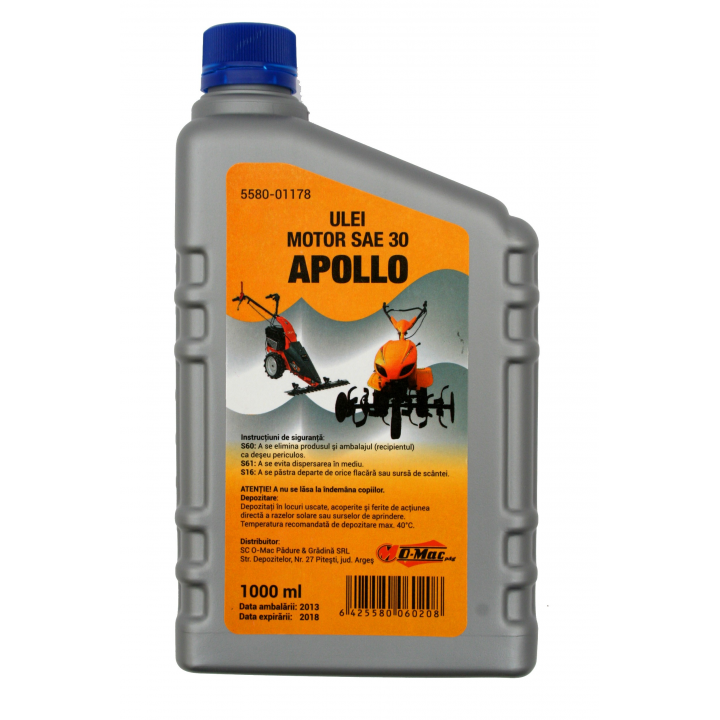 Ulei motor SAE30 Apollo, 1 litru