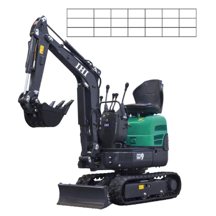 Mini - excavator 9VXE+, motor Yanmar