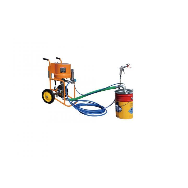 Pompa airless Bisonte PAZ 6C, sistem airless pneumatic