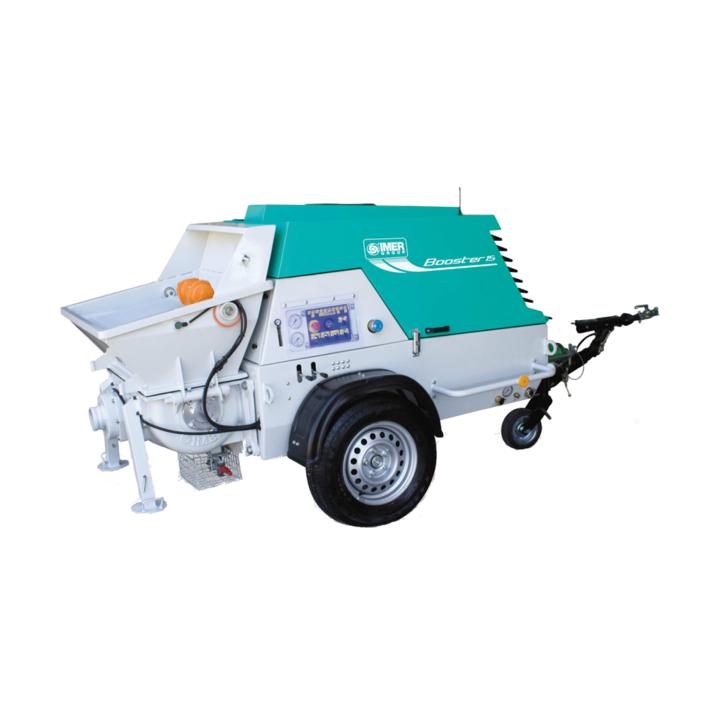 Pompe beton Booster 15R, remorcabila, motor Lombardini