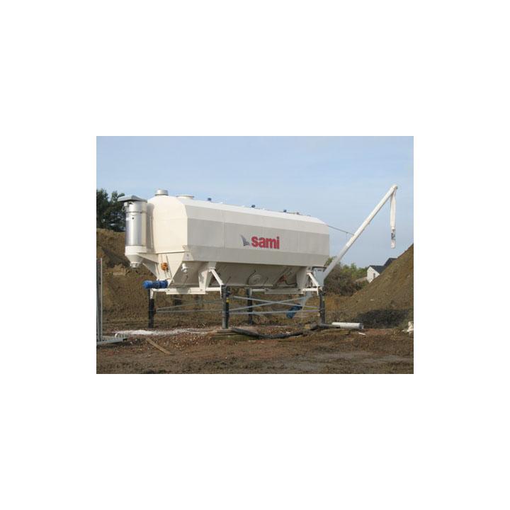 Siloz ciment orizontal Eurosilo 76 - 76/T, capacitate 76 mc