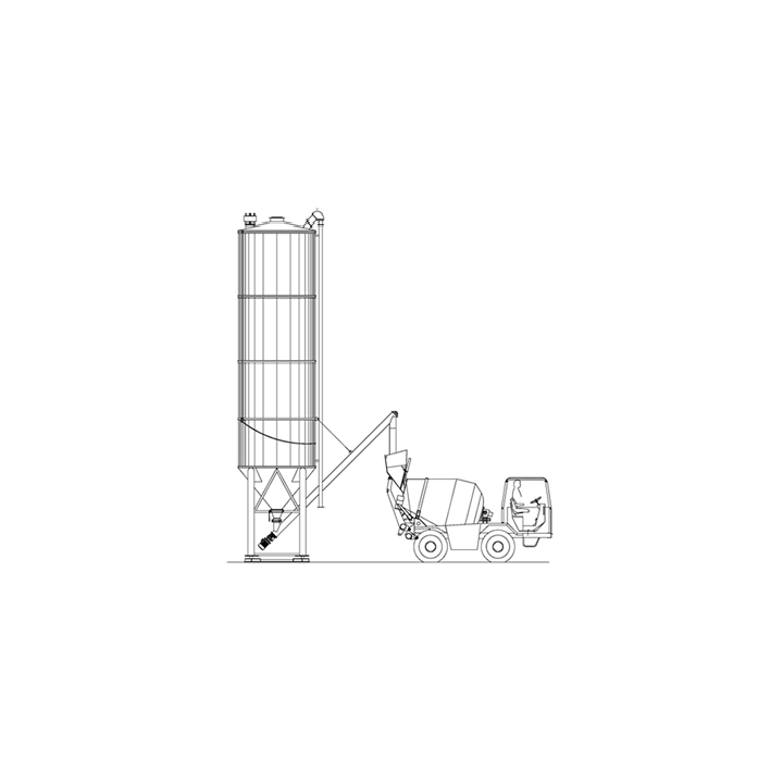 Silozuri verticale Silmatic 43, capacitate 43