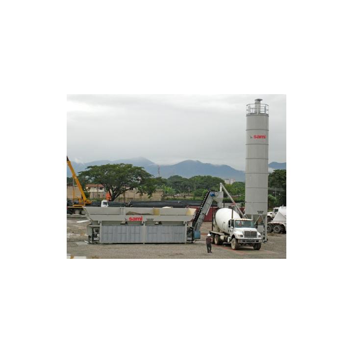 Statie / beton cu malaxar Tecno 4, 4 buncare
