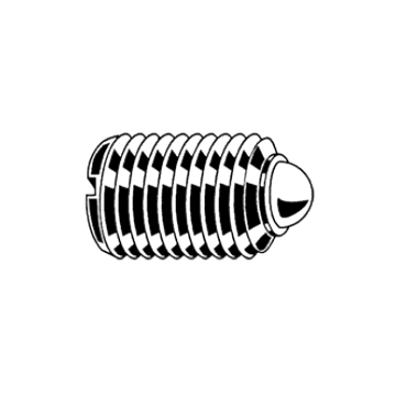Stift filetat, crestat cu bila si arc, M16x32