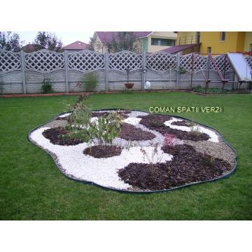 Aranjamente plante cu pietris si scoarta ornamentala