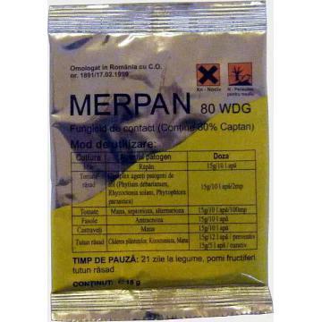 Fungicid de contact Merpan 80 WDG - 15 gr.