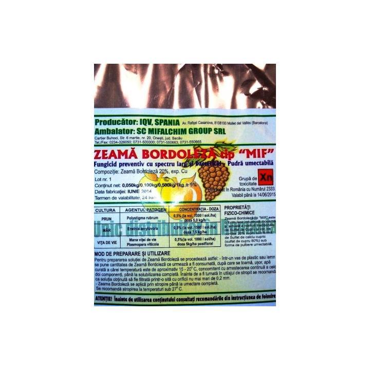 Fungicid Zeama Bordeleza 500gr