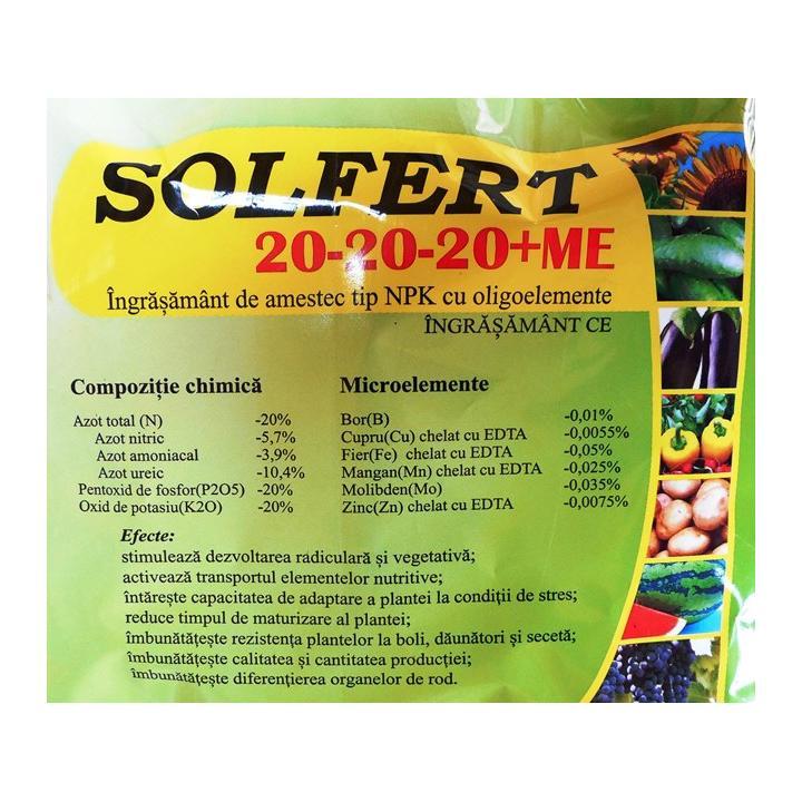 Ingrasamant hidrosolubil Solfert 20-20-20 +ME kg