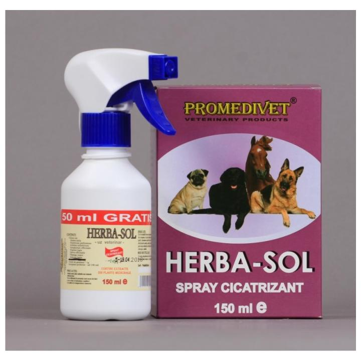 Spray cicatrizant uz veterinar Herba - Sol
