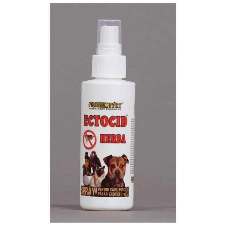 Spray insecticid Ectocid Herba pentru caini, pisici 100 ml