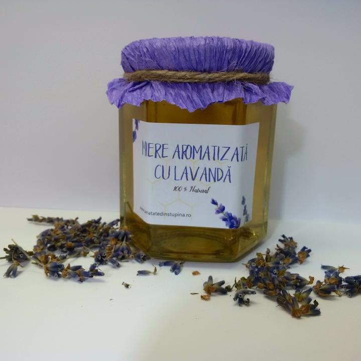Miere aromatizata cu lavanda 250 gr