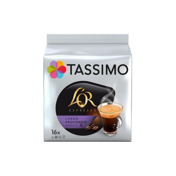 Capsule cafea Tassimo L'Or Lungo Profondo, 128 g