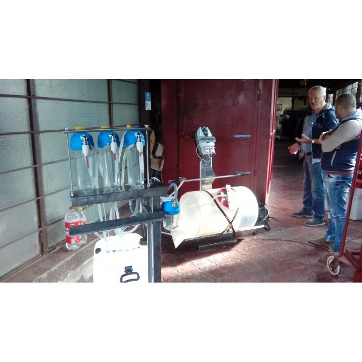 Instalatie dezinfectat sticle cu ozon cu sistem imbuteliere