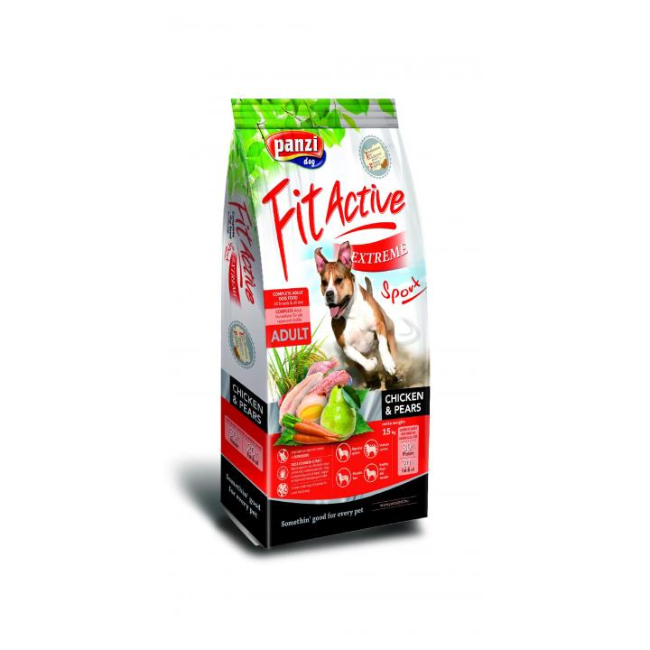 Hrana caini FitActive Extreme Sport-Chicken&Pears
