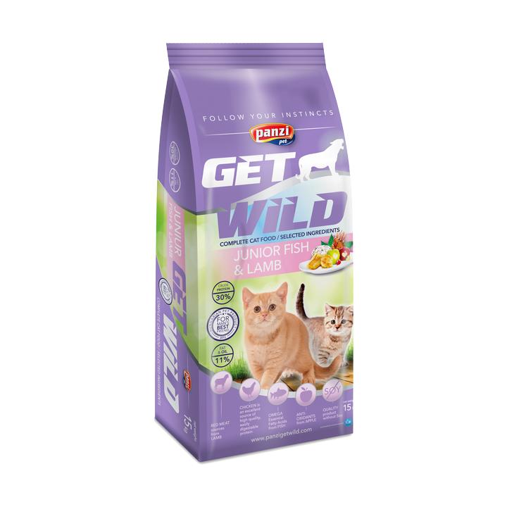 Hrana pisoi Panzi GetWild Cat Junior Fish/Lamb