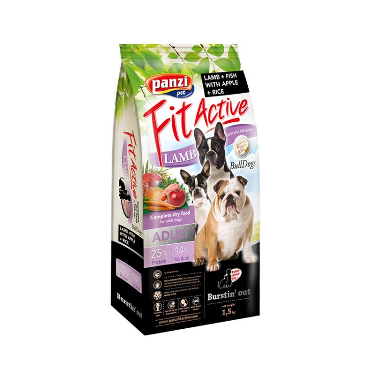Hrana caini FitActive Hypoallergenic Bulldogs Lamb&Fish