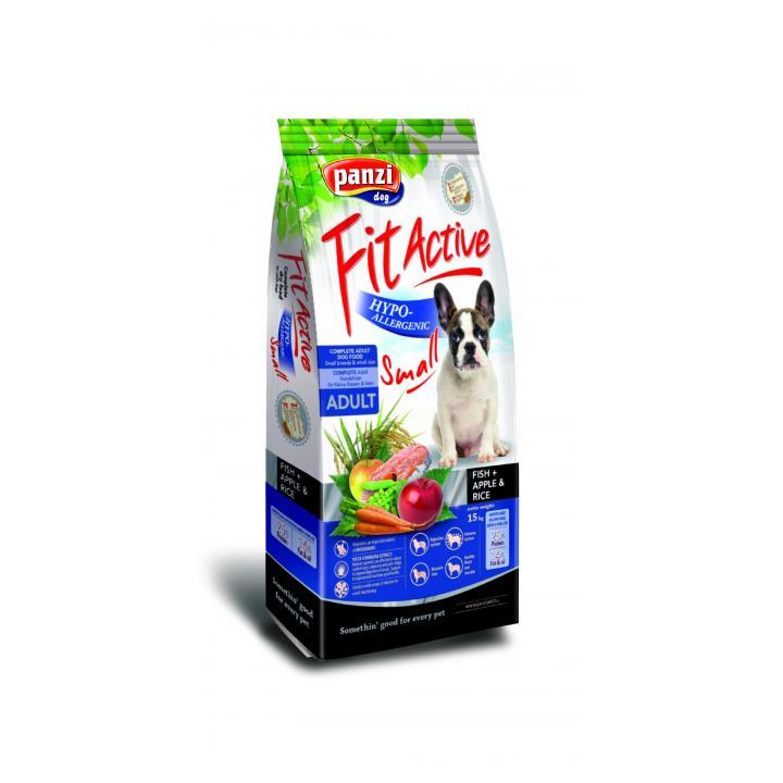 Hrana caini FitActive Hypoallergenic Small Fish&Apple, Rice