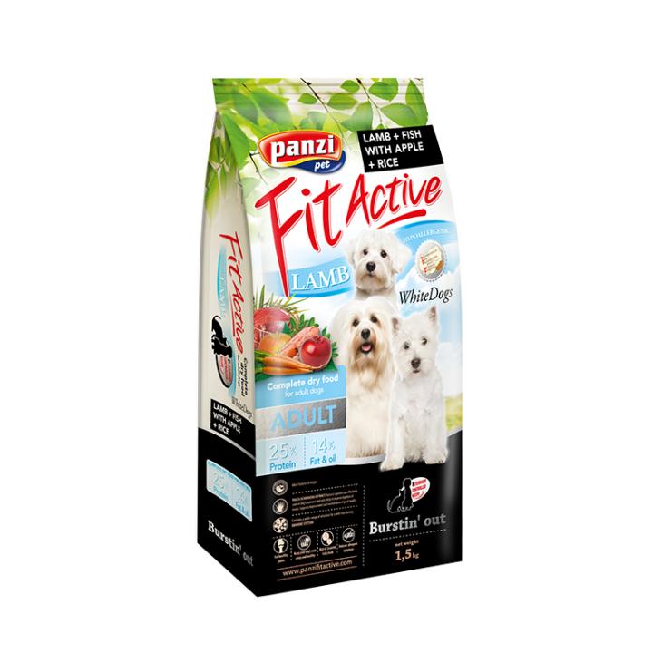 Hrana caini FitActive Hypoallergenic WhiteDogs-Lamb&Fish