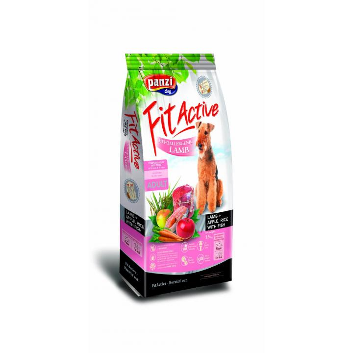 Hrana uscata caini FitActice Hypoallergenic Lamb&Apple, Rice