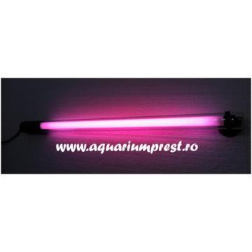 Lampa submersibila acvariu Eco Colour Lamp 35 cm lumina roz