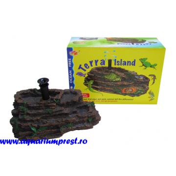 Decoratiune acvariu Insula broscute Terra Island