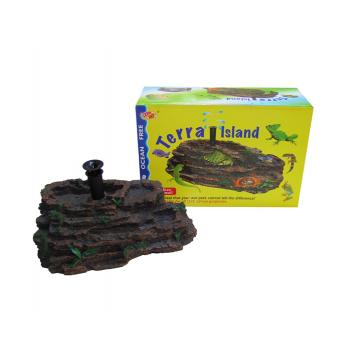 Decoratiune acvariu Insula broscute Terra Island (M)