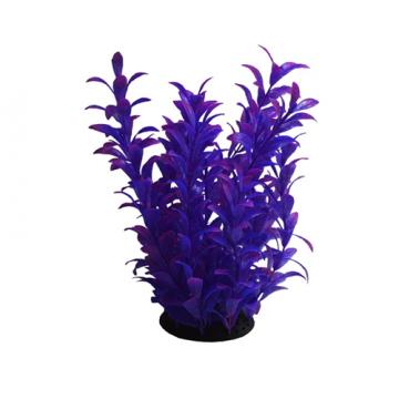 Planta artificiala violet pentru acvariu PP322 26cm