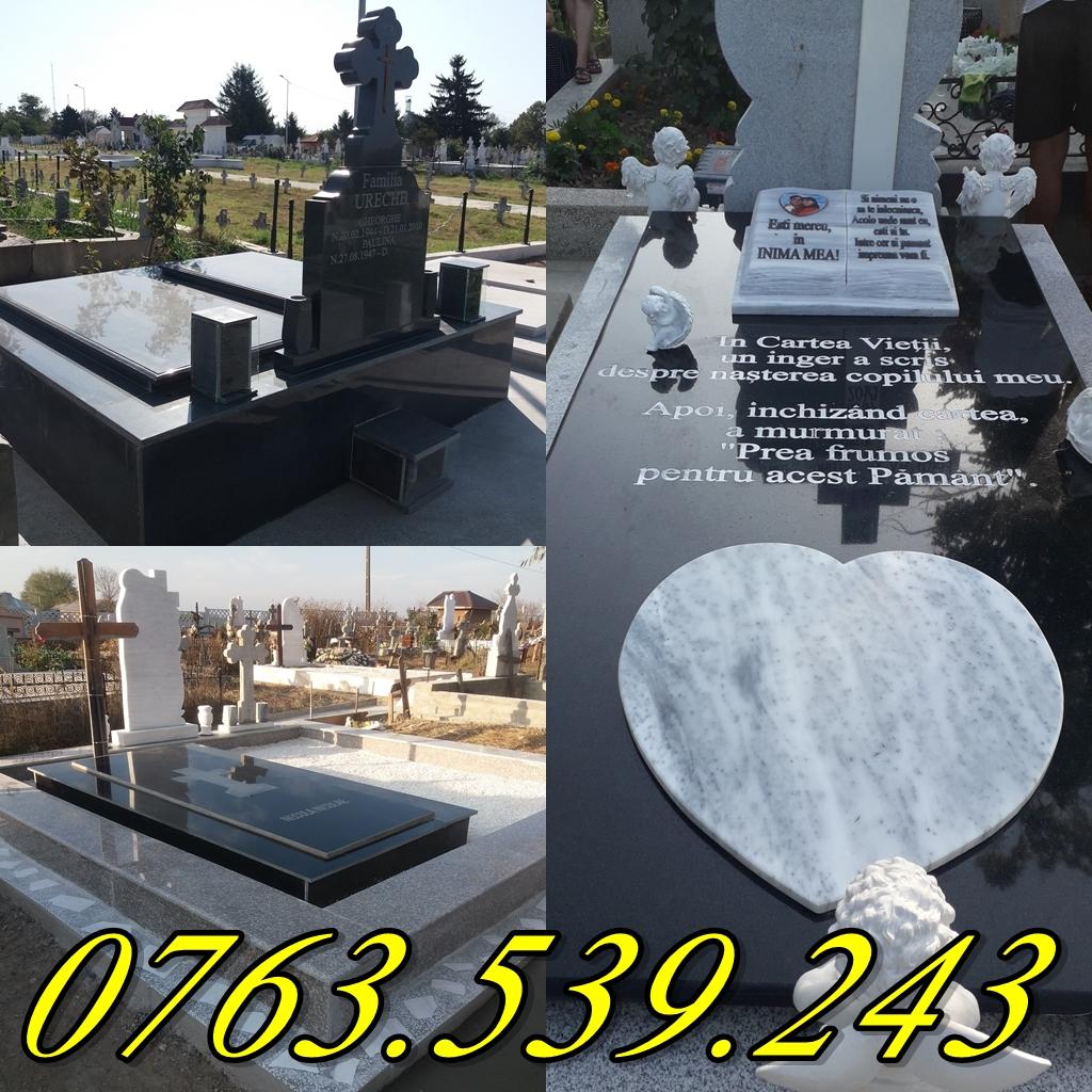 Placari lucrari funerare  cavouri cu granit marmura Monumente Funerare