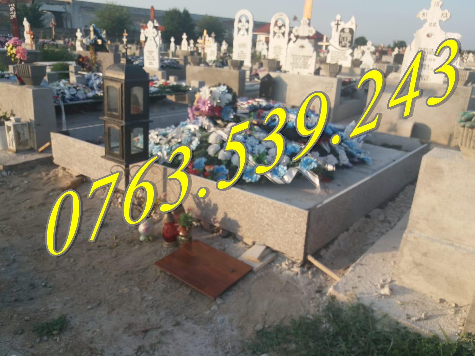 Decorare Morminte si Lucrari Funerare cu Granit