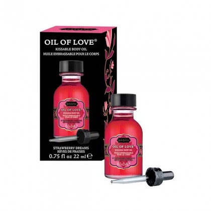 OIL OF LOVE KISSABLE BODY OIL STRAWBERRY DREAMS 22 ML