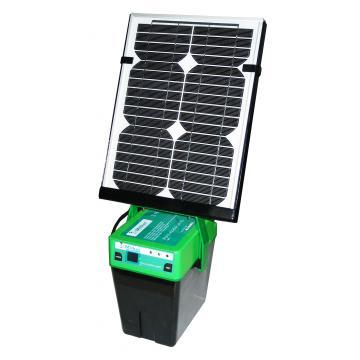 Gard electric cu panou solar