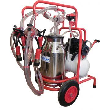 Mulgatoare de vaci Milker 2/1 inox pompa cu ulei