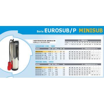 Pompa submersibila Eurosub/P 1mg