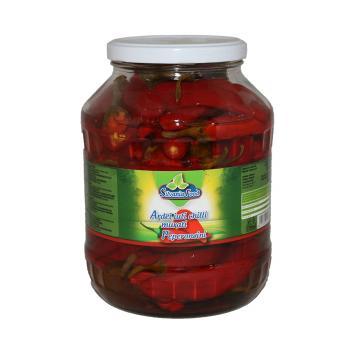 Conserva ardei iuti chilli peperoncini 1700ml Silvania