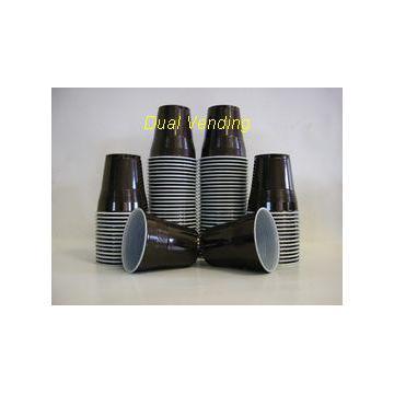Pahare plastic pentru automate de cafea negre