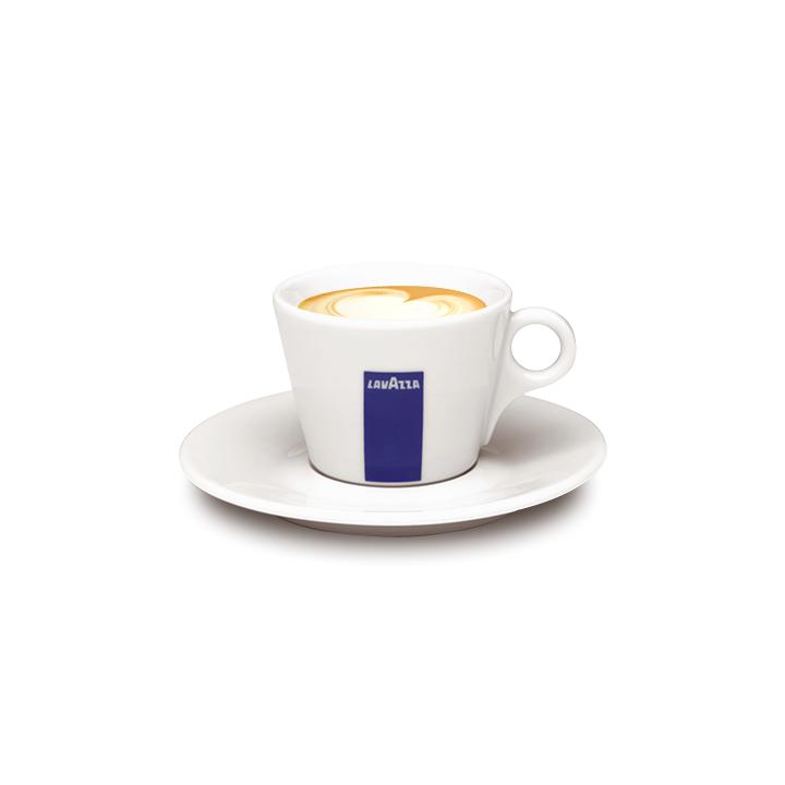 Cesti cappuccino cu farfurii ceramica Lavazza 6buc