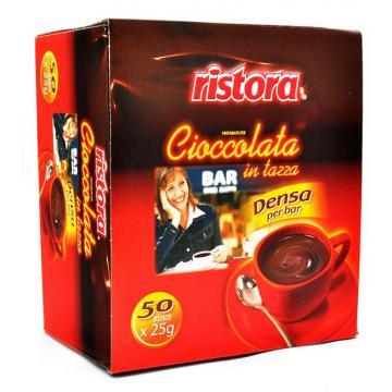 Ciocolata calda densa Ristora bar - cutie 50 plicuri