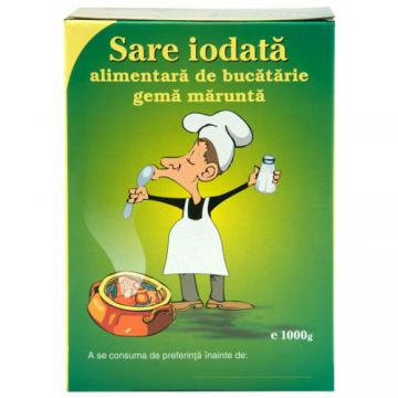 Sare iodata alimentara de bucatarie gema marunta