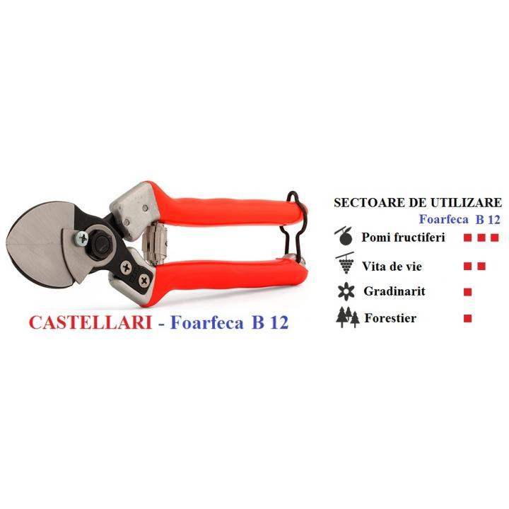Foarfeca de mana profesionala Castellari cu dublu tais B12
