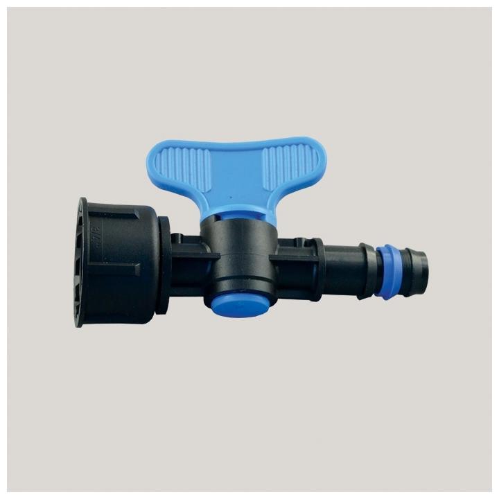 Robinet pentru tub de picurare cu FI 16 mm x 3/4