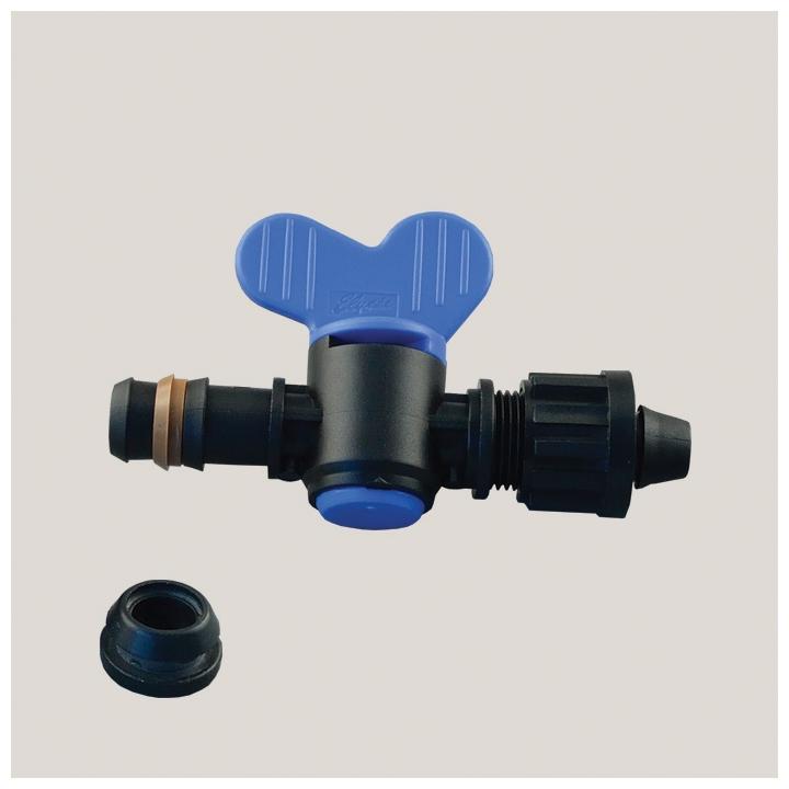 Robinet pentru tub de picurare cu garnitura 16 mm