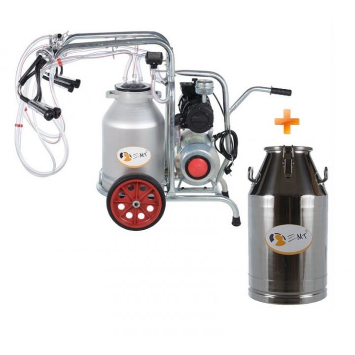 Aparat muls EMT2+1GA si bidon transport 40 litri
